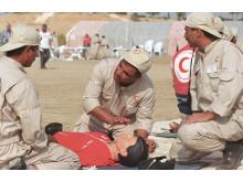 Frivilliga utbildas i Första hjälpen i Irak