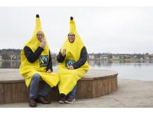 Dennis Lundquist och Ellinor Färg, Fairtrade-samordnare i Nässjö