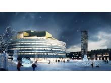 Kirunas planerade stadshus Kristallen
