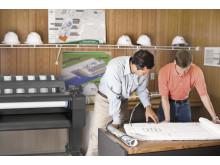 HP designjet T920 i arkitektmiljø