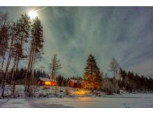 Utleiehytta Nordre Borthuskoia i hertet av Finnskogen, Varald statsskog