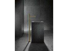 AXOR_Uno_Zero Handle_Freestanding_Washbasin Tap_Gold