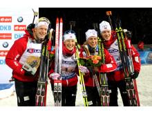 Mixed stafett, det norske bronselaget, VM Kontiolahti 2015