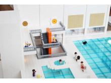 Legomodell 3 Järfälla nya simhall