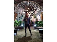 Katarina Gospic skapar ljusoas på Bromma Blocks