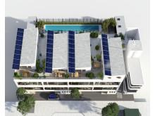 Taket på det energismarta huset Hållbarheten
