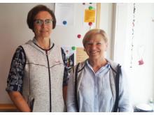 Ingrid Olsson och Karin Svensson, sjukhuslärare på Norrlands universitetssjukhus.