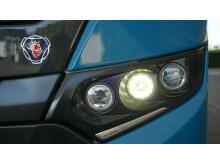 Scania Interlink LD CNG mit optimaler Fahrzeugbeleuchtung