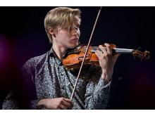Violinisten och KMH-studenten Carl Vallin, mottagare av 2019 års Jan Wallanderpris. Foto: Stefan Nilsson.