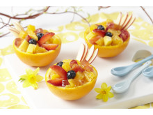 Appelsinsalat i påskedrakt