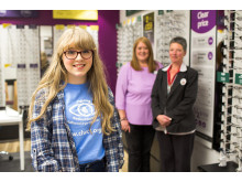 Local teen eye cancer survivor is guest of honour at opening of York optician