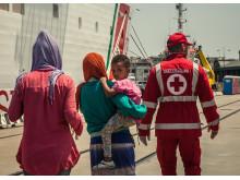 Människor på flykt i Italien