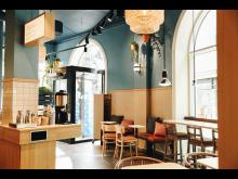 Allt kaffe på Waynes är ekologiskt och KRAV-märkt