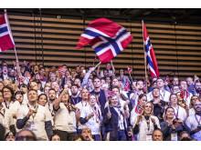 Болельщики норвежской команды