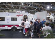 Många av besökarna ville se nyheterna på Elmia Husvagn Husbil