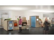 HSB Living Lab Tvättstudio skissbild 27 maj 2015