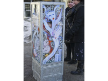 Ulrica Hydman Valliens gatukonst på plats i Växjö