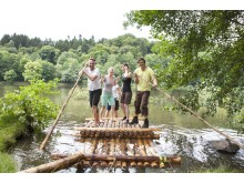 flåte-tur i UNESCO biosfærereservat Bliesgau, Tyskland
