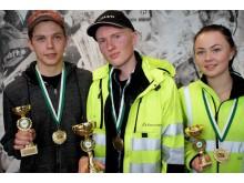 Pristagarna från Kvaltävling till Yrkes-SM i Skellefteå