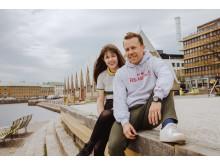 Lisa Svensson & Tobias Dagerås på Rosenlundskajen