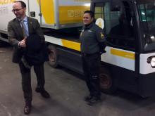 Infrastrukturminister Tomas Eneroth besöker Ragn-Sells