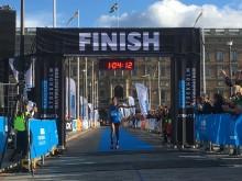 Abraha Adhanom, vinnare av Ramboll Stockholm Halvmarathon