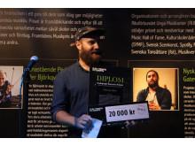 Jon Skoog mottar framtidens musikpris