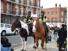 Thames Valley Police Mounted Section patrols- Windsor