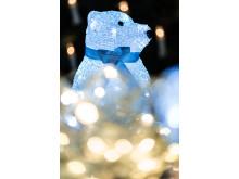 Lysande isbjörn med LED-lampor