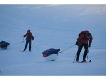 Godt føre å dra pulk - her i Troms Foto: Trond Baadstø