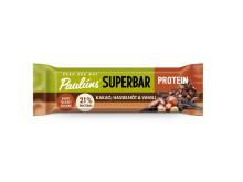 Paulúns Superbar Protein i smaken Kakao, Hasselnöt & vanilj