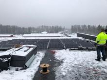 Scanofficen aurinkovoimalan asennus Espoossa 2
