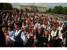 Norwegischer Nationalfeiertag 17. Mai Kinderumzug