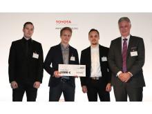 Toyota Logistic Design 2016 -kilpailun kolmanneksi sijoittuneet Suomalaisopiskelijat