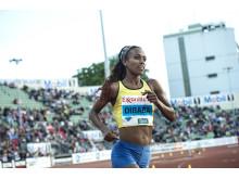 Genzebe Dibaba till Stockholm BAUHAUS Athletics. Foto: Deca Text&Bild
