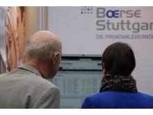 Beratungsszene beim Anlegertag Düsseldorf