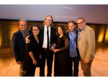 Günther Weilguni, Minja Yang, Erik Nissen Johansen, Alexandra Lebelle, Daniel Mani, Manfred Weilguni at the Prix Versailles awards gala 12 May 2017
