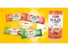 Friggs majskakor i snackpack och Majskakor Grill
