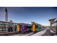 New and old train liveries