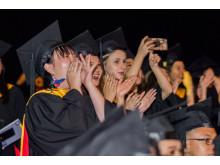 Grads cheering