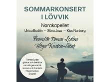Tomas Ledin spelar i Höga Kusten i augusti