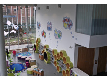 ANIMATED: Murals painted on the wall of the Children's Library form a lasting legacy of the Rochdale Literature and Ideas Festival