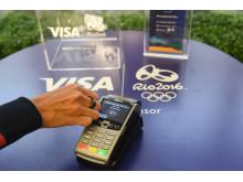 Plata contactless cu inelul Visa