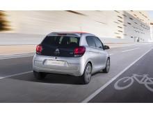 Nya Citroën C1 Citybilen - bakifrån, dynamisk