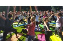 Yoga open air sommaren 2015