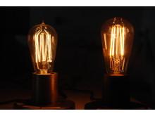 Jämf glödtrådslampa o LED-lampa