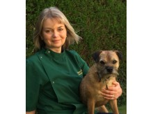 Rachel with her Border Terrier Tilly