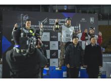 Torgeir Bergrem tok tredjeplass i verdenscupen i Beijing. Foto: Snowboardforbundet / Matt Pain
