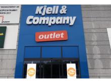 Ingången till Kjell & Companys outlet