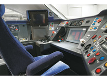 Intercity train driver cab mock up